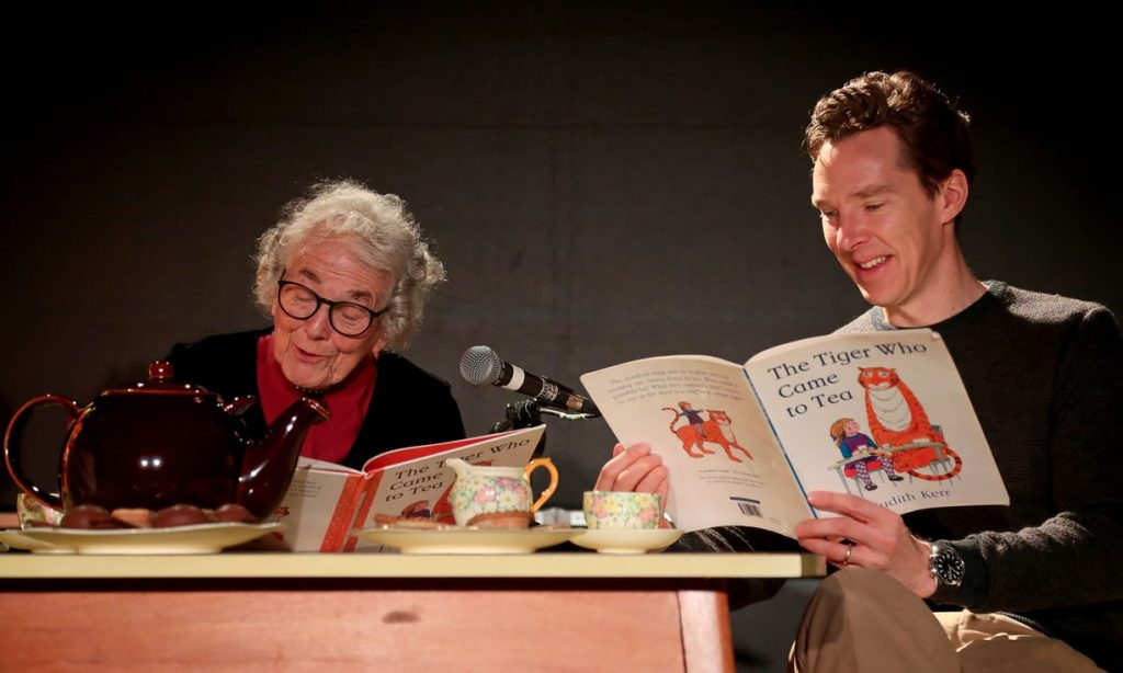 Judith Kerr with Benedict Cumberbatch at Storystock Festival