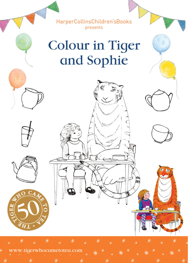 Colouring activity - Tiger Who Came to Tea
