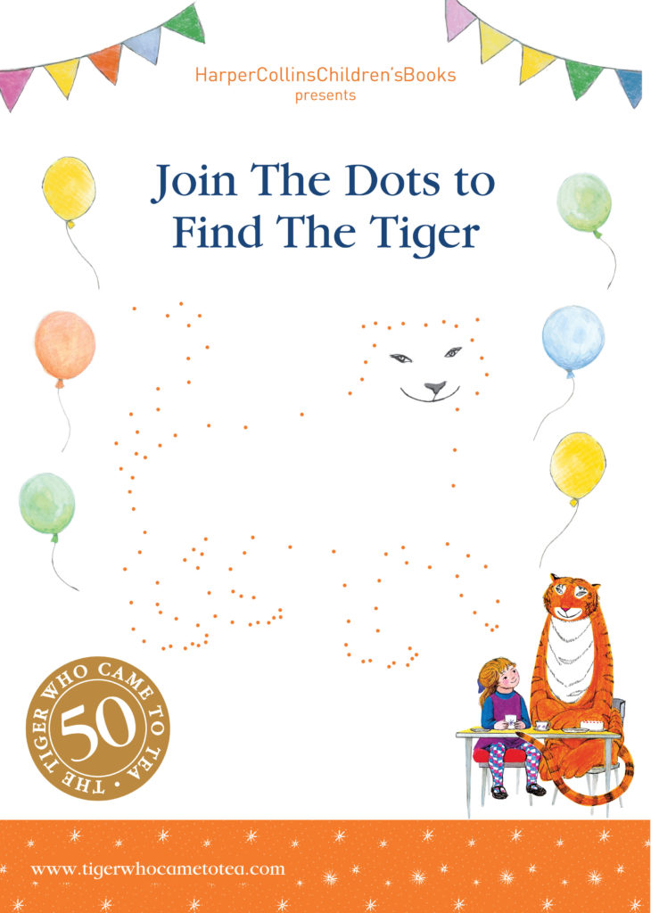 Join the Dots activity - Tiger Who Came to Tea