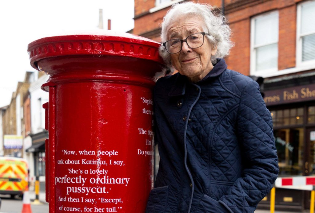 Judith Kerr with post box