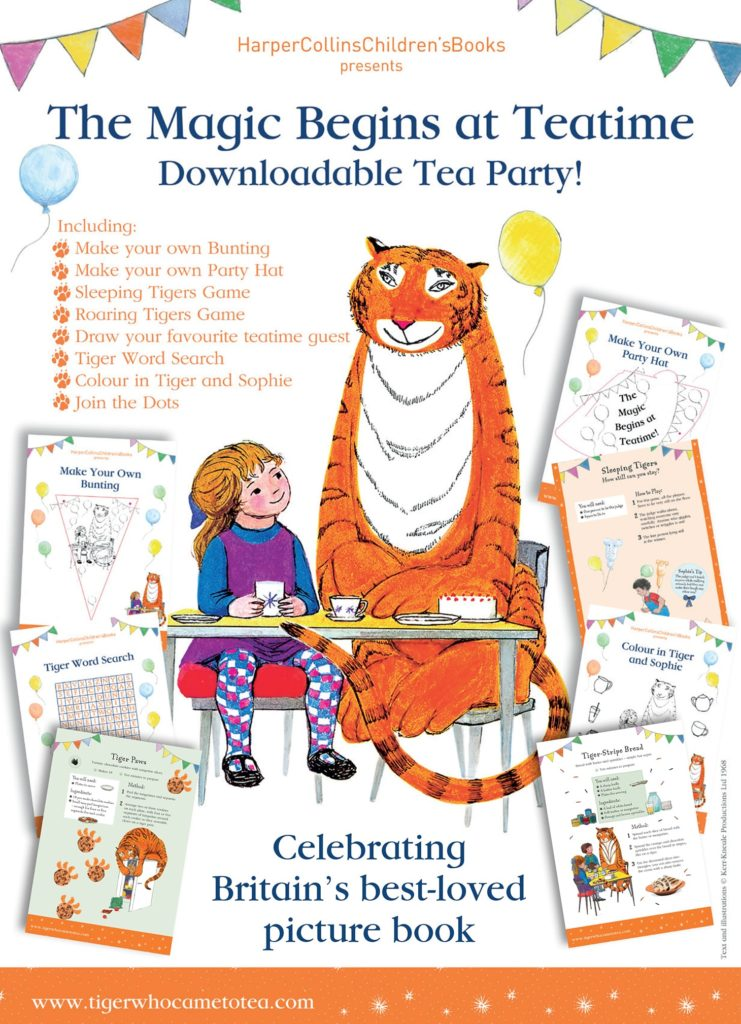 The Tiger Who Came to Tea Tiger Colouring In Activity